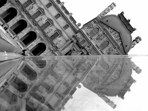 A reflection from the Louvre's Pyramid.